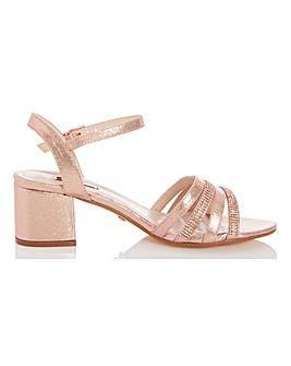 Quiz Block Heel Occasion Shoes Wide E Fit