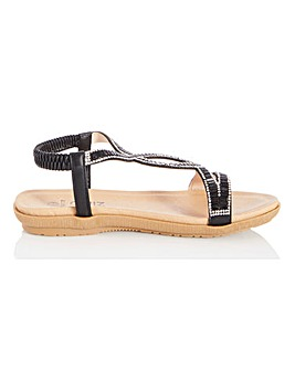 Quiz Sling Back Diamante Sandals