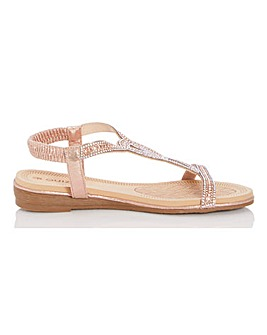 Quiz Sling Back Sandals Wide E Fit