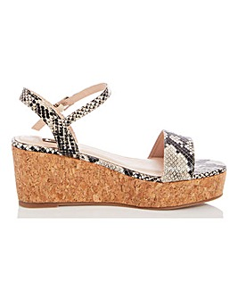 Quiz Wedge Flatform Sandals Wide E Fit