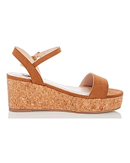 Quiz Espadrille Wedge Sandals Wide E Fit
