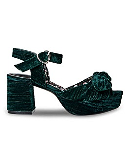 Joe Browns Block Heel Sandals Wide E Fit