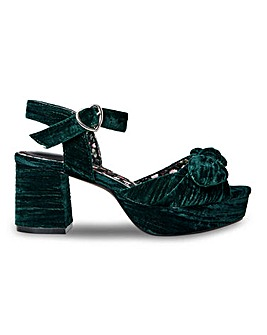 Joe Browns Block Heel Sandals EEE Fit