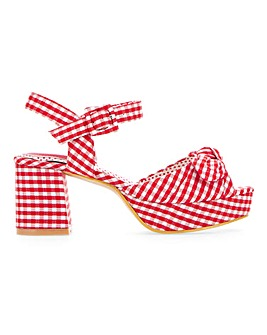 Joe Browns Platform Gingham Sandals Extra Wide EEE Fit.