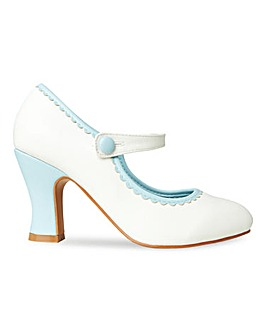 Joe Browns Mary Jane Something Blue Bridal Shoes Extra Wide EEE Fit