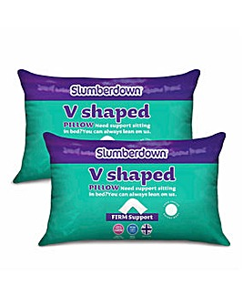 Slumberdown Pack 2 V-Pillows with Cover