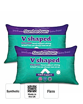Slumberdown Pack 2 V-Pillows with Covers