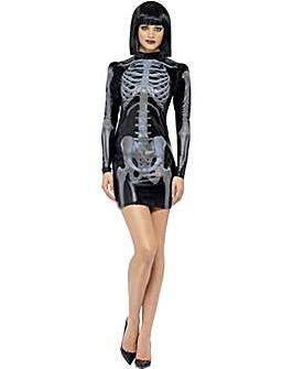 Halloween Miss Whiplash Skeleton Dress