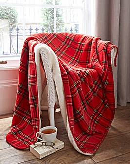 Tartan Sherpa Check Throw