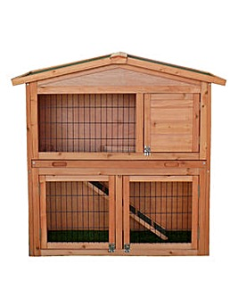 2-Tier Rabbit Hutch with Built in Run