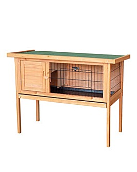 Raised Rabbit Hutch with Cleaning Tray