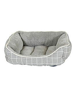 Supersoft Check Square Pet Bed - Small
