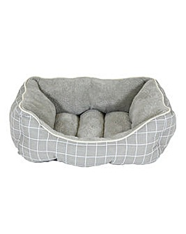 Supersoft Check Square Pet Bed - Medium