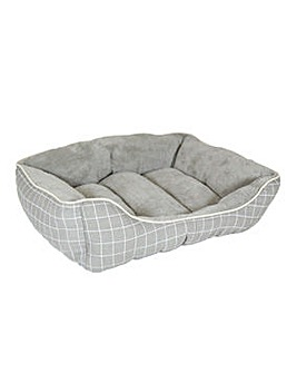 Supersoft Check Square Pet Bed - Large