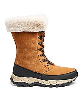Ladies Snow Boot with Fur Trim EEE Fit