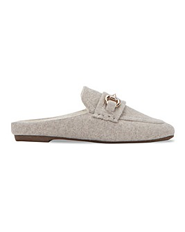 Mule Slipper with Snaffle Trim Extra Wide EEE Fit