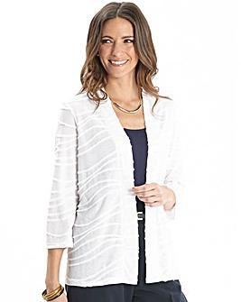 Textured Jersey Cardigan