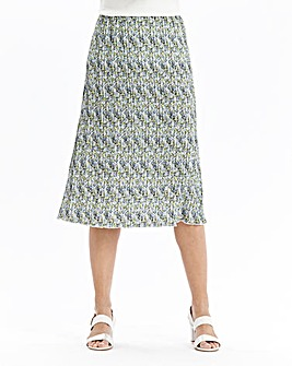 Print Pleated Skirt