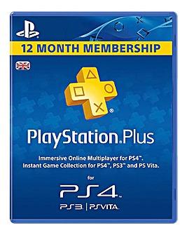 PS4 12 Month PS Plus Membership