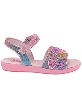Lelli Kelly Rainbow Hearts Girls Sandals
