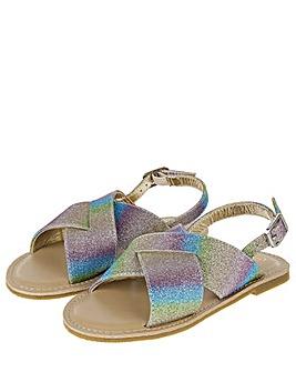 Accessorize Ombre Glitter Sandals
