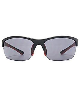 FCUK Semi Rimless Wrap Sunglasses