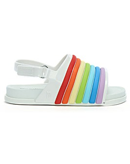 Mini Melissa Kids Rainbow Beach Sliders