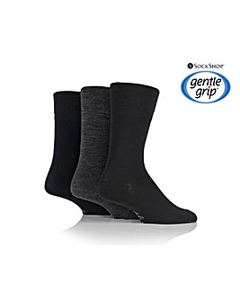 3 Pair Gentle Grip Wool Blend Socks