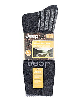 4 Pack Jeep Boot Socks
