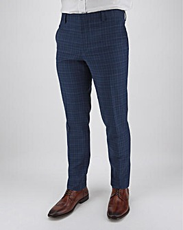Peter Werth Blue Check Suit Trousers