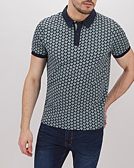 Peter Werth Contrast Collar Geo Polo L