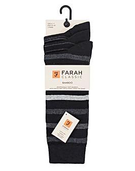 3 Pack Farah Bamboo Socks