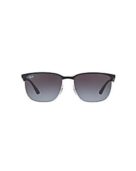 Ray-Ban Metal Half Rim Square Sunglasses