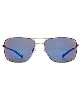 FCUK Metal Double Bridge Wrap Sunglasses