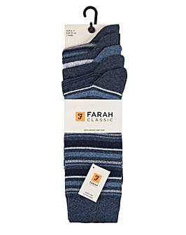5 Pack Classic Farah Stripe Socks