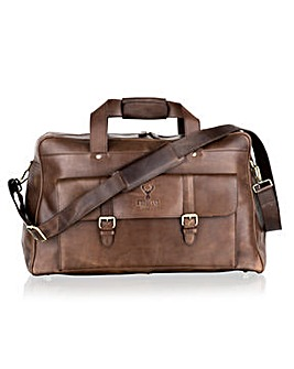 Woodland Leather Multi Pket Lge Holdall