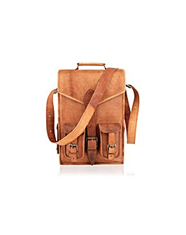 "Woodland Leather 18"" Vintage Back Pack"
