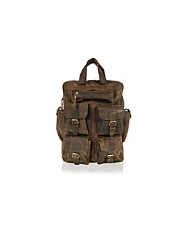 "Woodland Leather 18.0"" Back Pack"