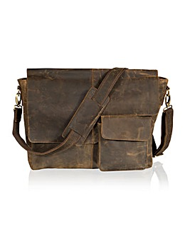 "Woodland Leather 15"" Messenger Bag"