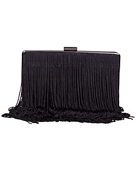 Claudia Canova Tassel Fringed Clutch Bag & Chain