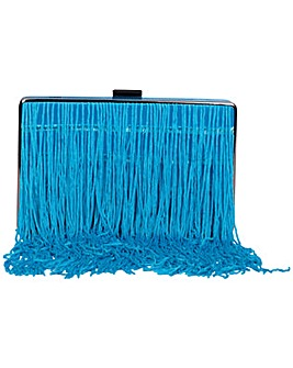 Claudia Canova Tassel Fringed Clutch Bag