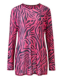 Tiger Mesh Long Sleeve Top