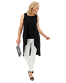 Black Waterfall Front Tunic