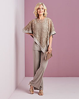 Nightingales Cape Top and Trouser Set