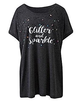 Glitter and Sparkle Slogan Tunic