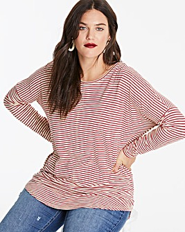 Red/Ivory Oversized Stripe Top