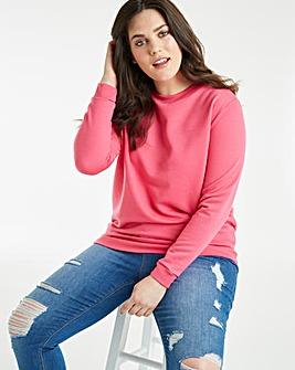 Pink Basic Sweatshirt