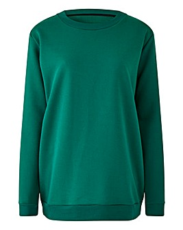 Green Basic Sweatshirt