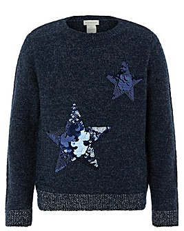 Monsoon Stephanie Star Jumper