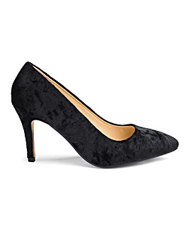 Velvet Court Shoes E Fit